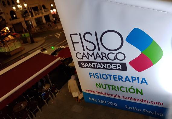 Bandera fachada en Clínica fisioterapia Fisiocamargo Santander
