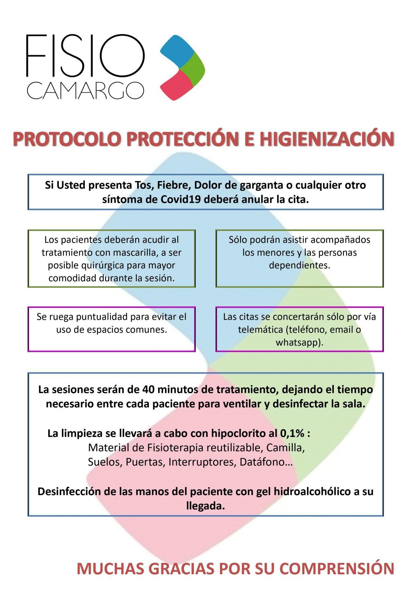 Protocolo Protección E Higienización Covid19