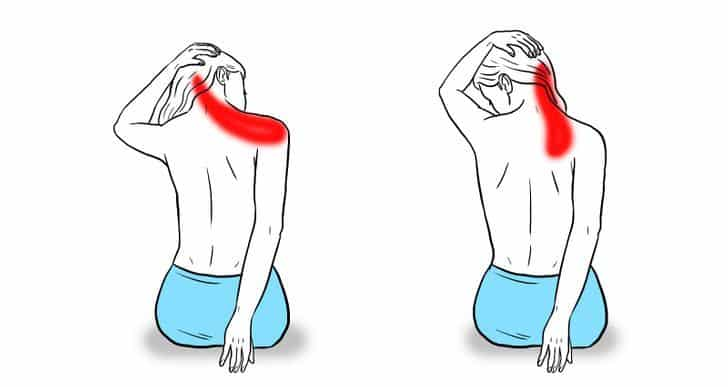 Estiramientos de hombros Para Aliviar La Tensión Del Cuello